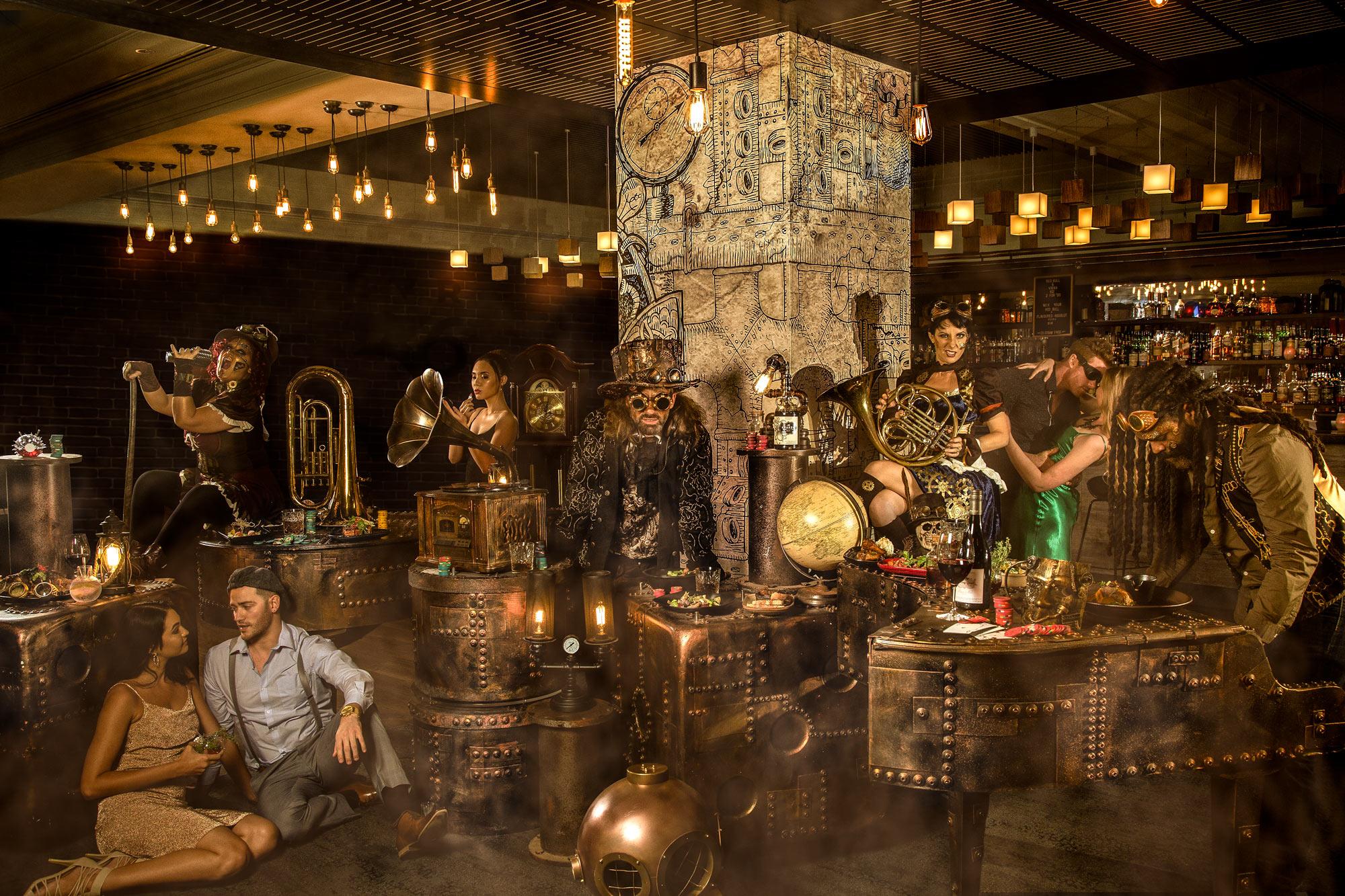 Hotel Bar Steampunk von Schweizer Werbefotograf Adrian Kilchherr Schweiz Deutschland Europa