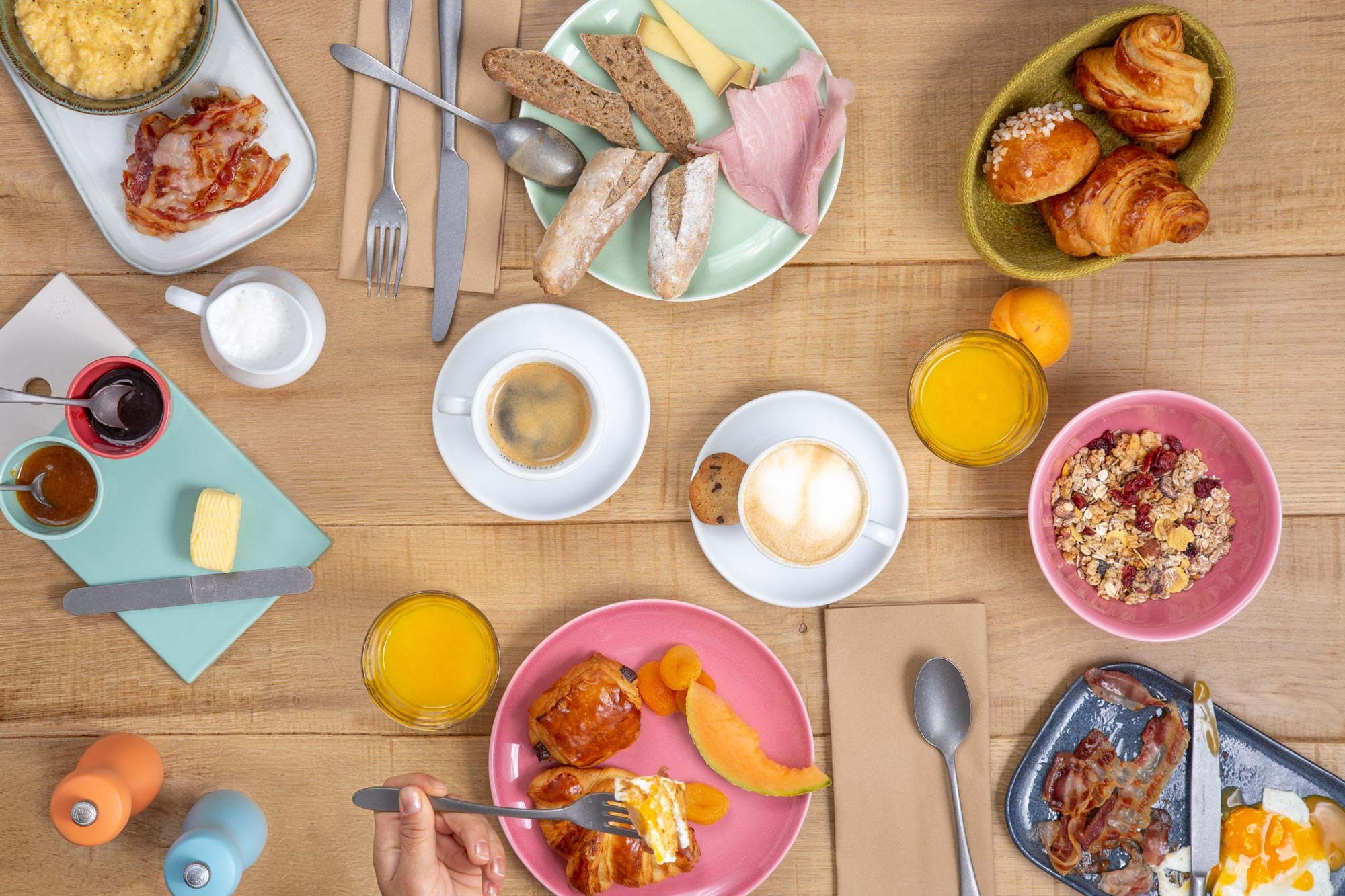 Breakfast Photography by Adrian Kilchherr; Hospitality Photographer Europe