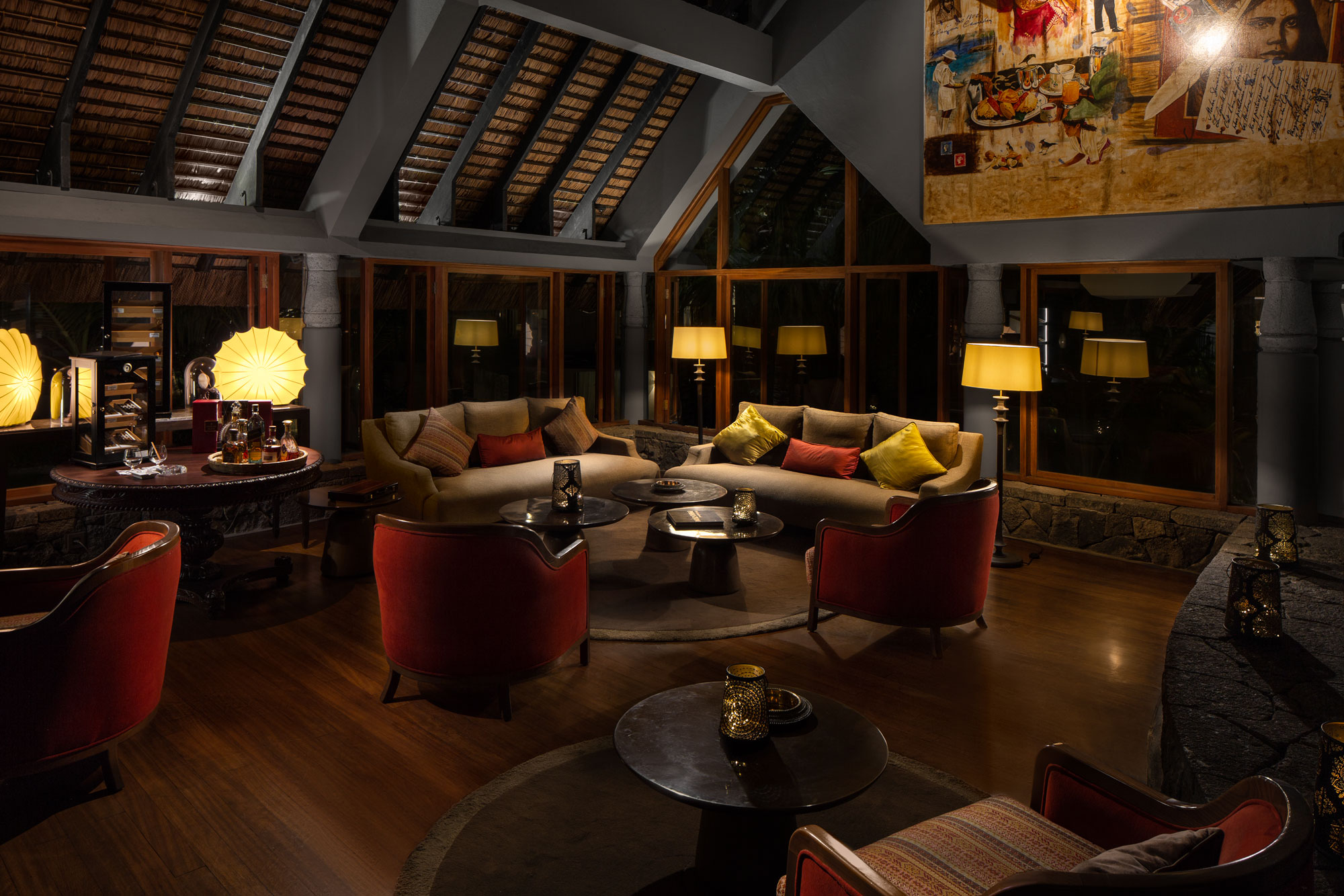 Cigar Lounge Luxury Hotel Photography by Adrian Kilchherr