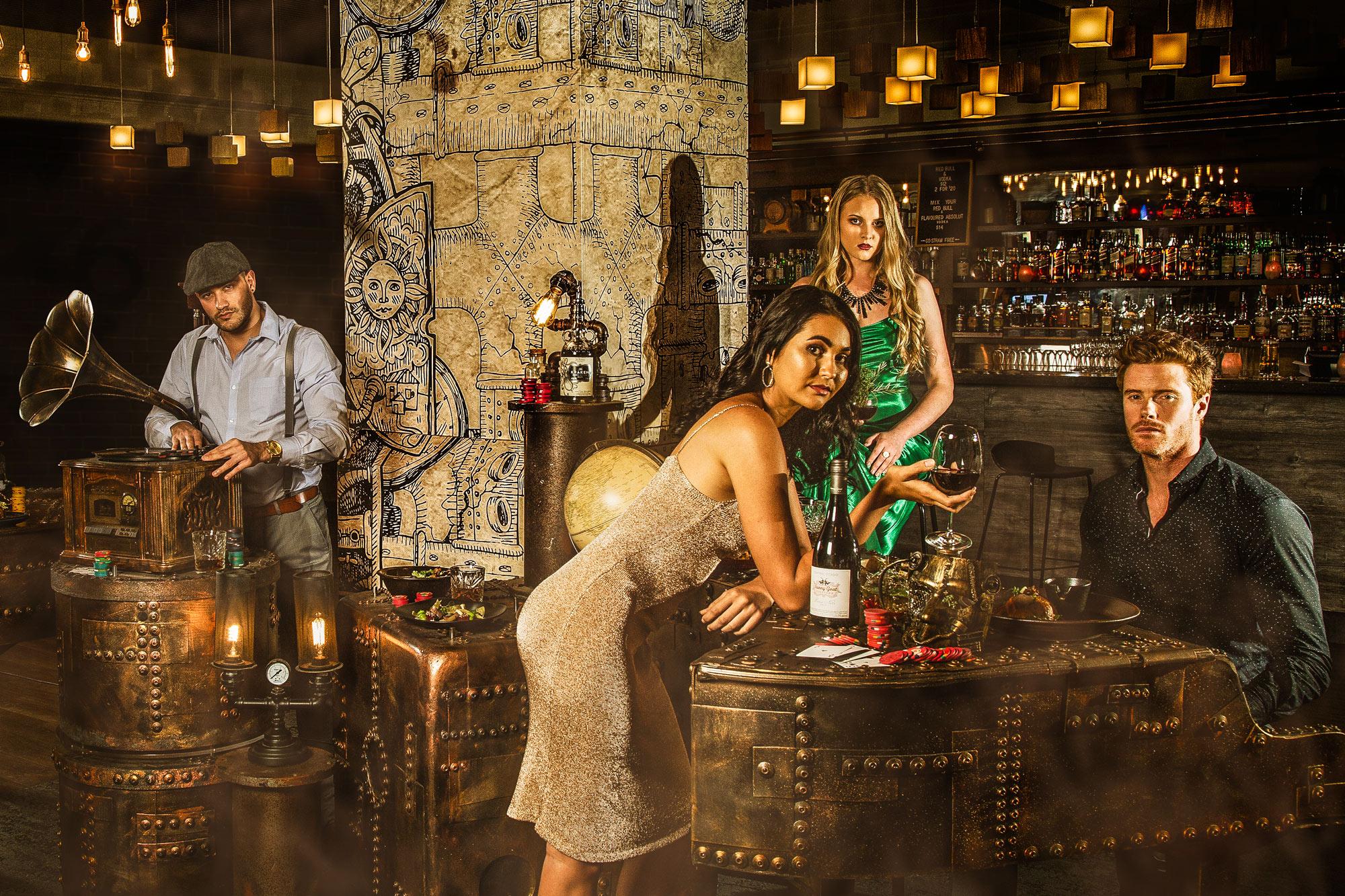 Commercial Lifestyle Photography Hotel Bar Steampunk by Adrian Kilchherr Switzerland Europe Australia