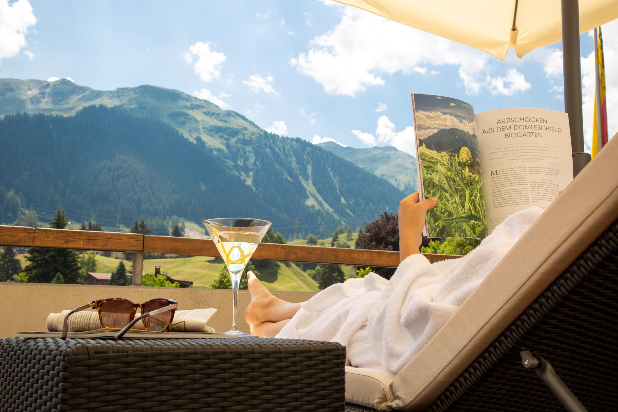 Piz Buin Schweiz Relax Lifestyle Fotografie von Adrian Kilchherr; Hotel und ResortFotograf