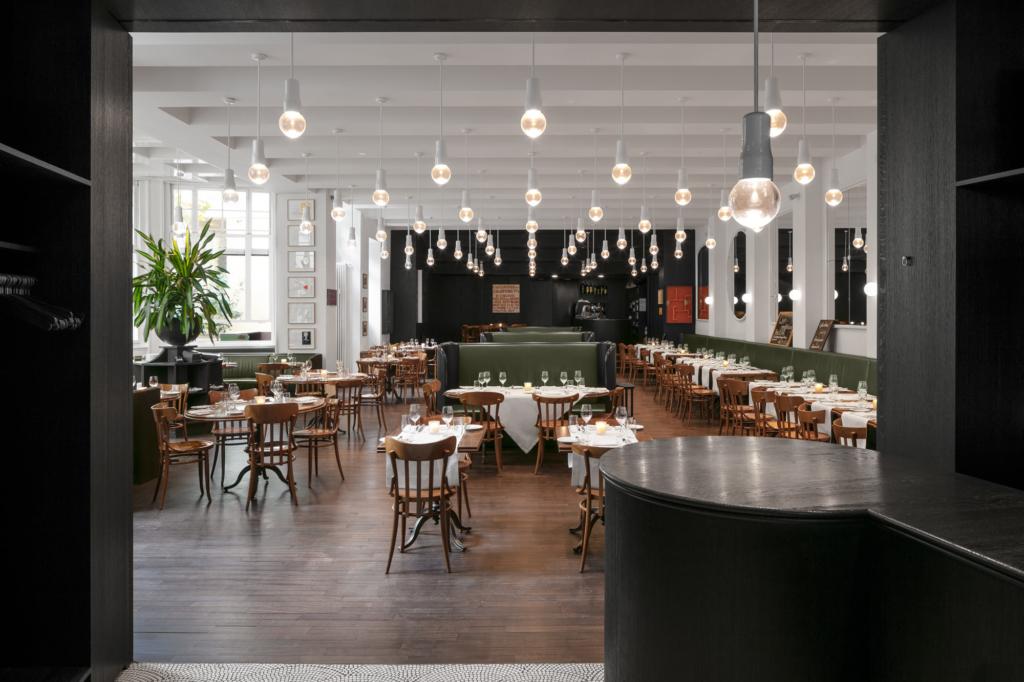Volkshaus Basel Restaurant Switzerland Herzog de Meuron by Adrian Kilchherr ; Hotel Photographer Europe