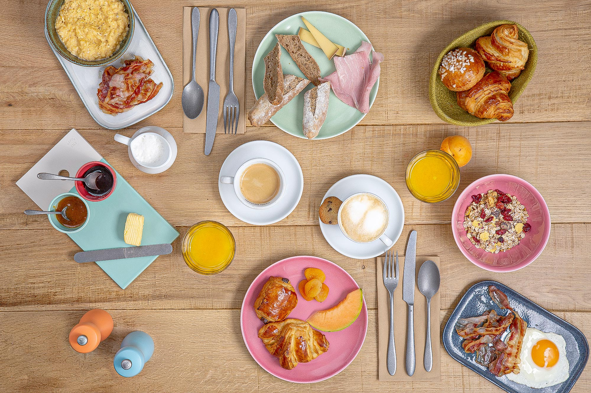 Breakfast Photography by Adrian Kilchherr; Hospitality Photographer Swiitzerland France Europe