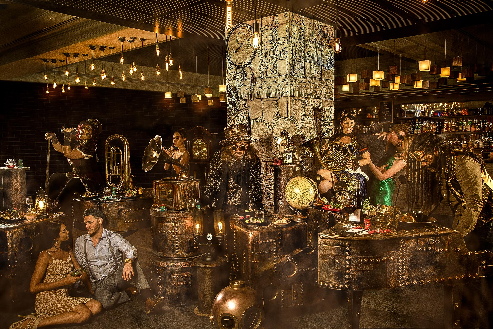 Commercial Lifestyle Photography Bar Steampunk by Adrian Kilchherr Australia Europe