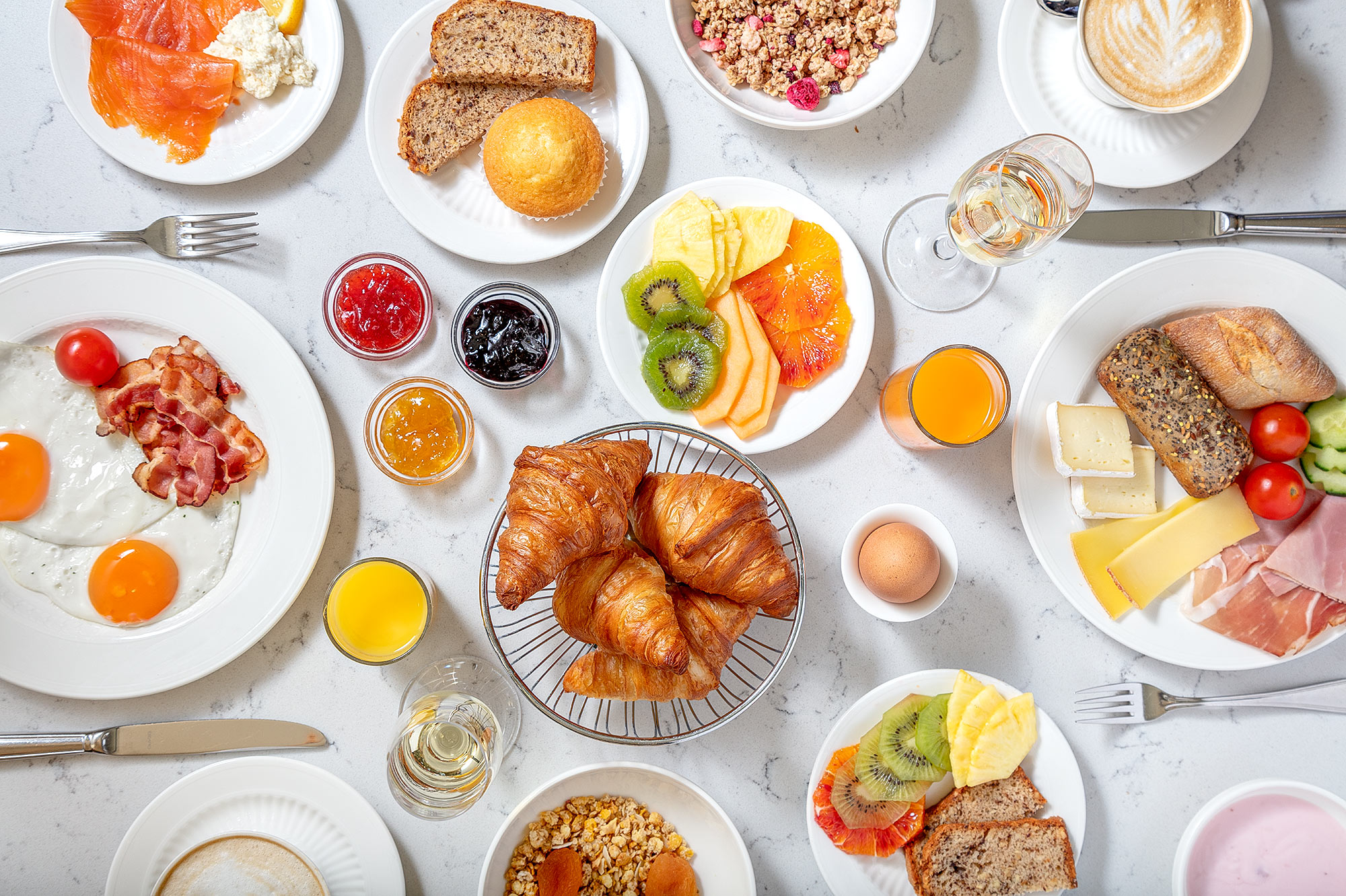 Hotel Breakfast by Adrian Kilchherr Switzerland Hotel Photographer