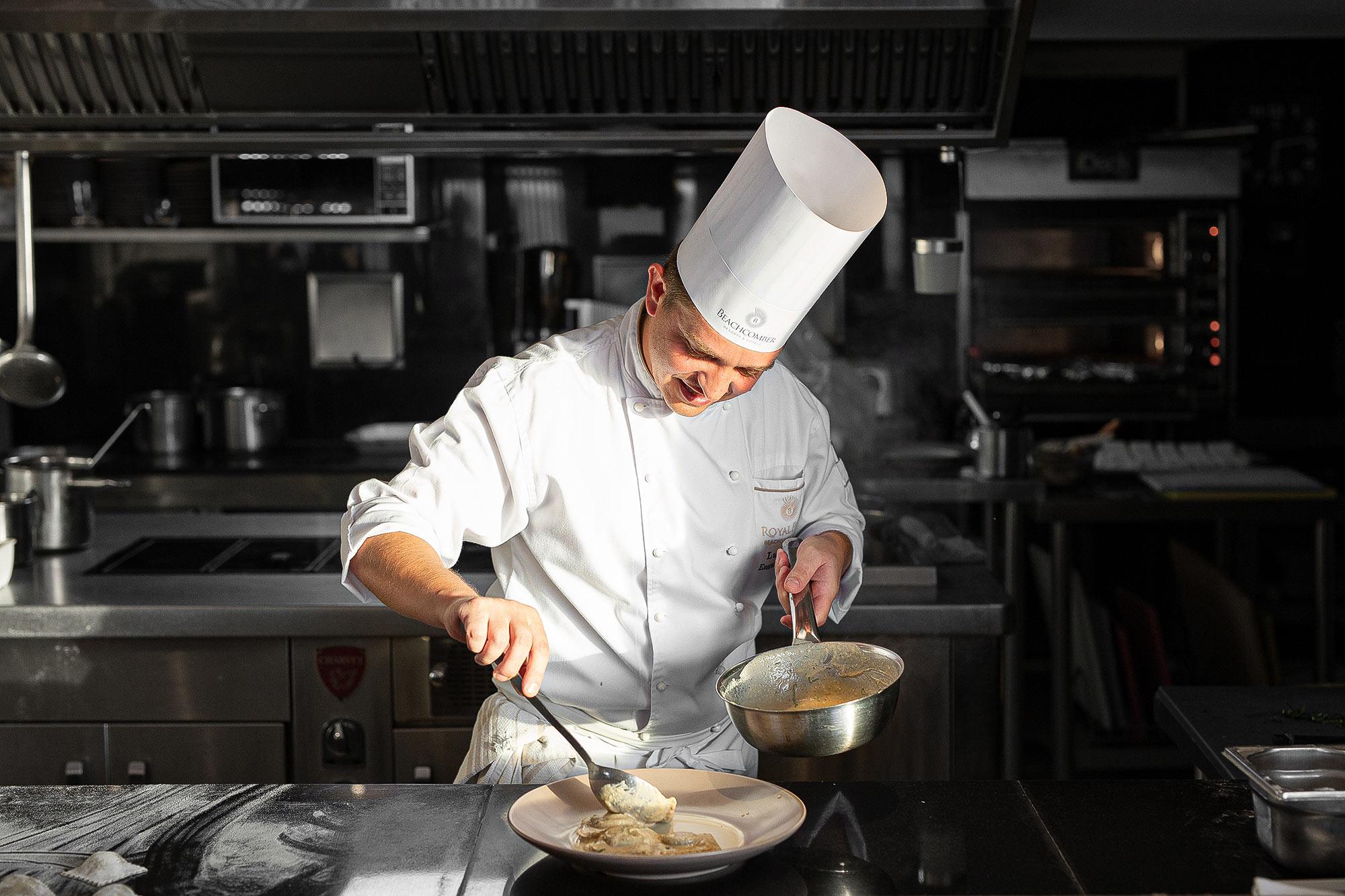 Italienischer Küchenchef Restaurant Fotografie von Adrian Kilchherr Schweiz