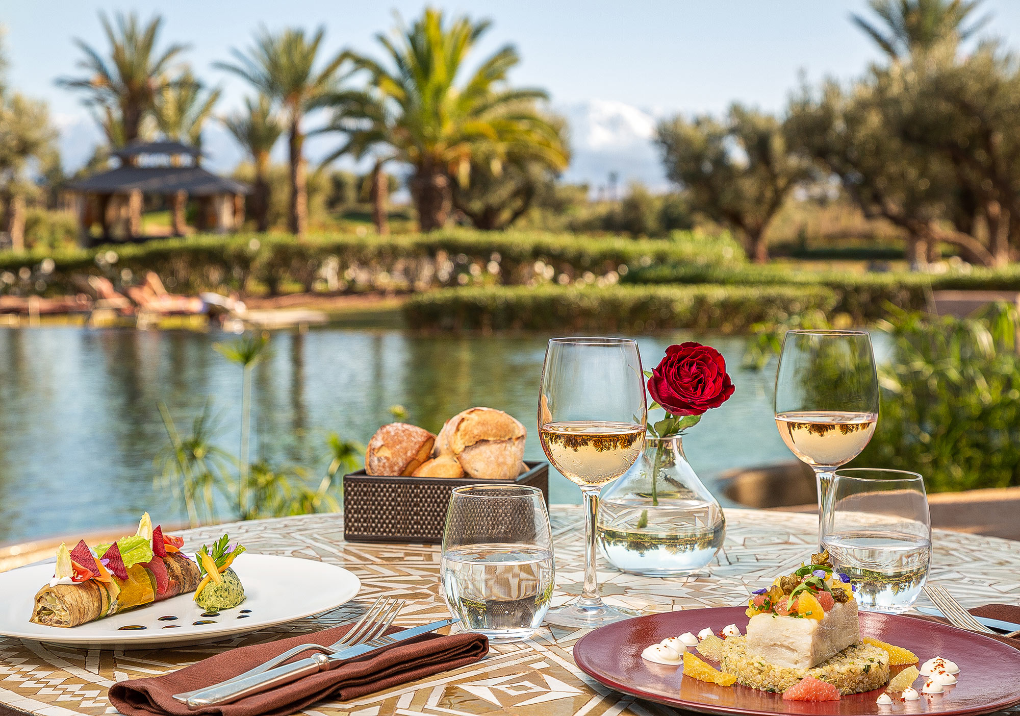 Romantic lunch photography by Adrian Kilchherr; Hotel and Resort Photographer Europe Africa Canada USA Australia